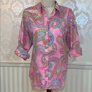 Ralph Lauren Pink Paisley Button-Down Shirt